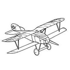 Airplane Coloring Pages Light Aircraft