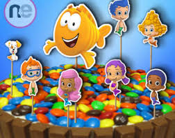 Bubble Guppies Cake Decorations by Bubble Guppies Cake Etsy
