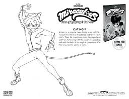 Miraculous Ladybug Coloring Pages Cat Sketch Page To Print Printable Online