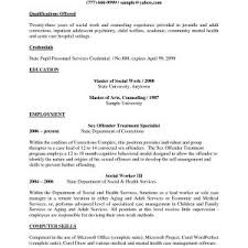 Sample Of Social Worker Resume New Best Examples Bsw