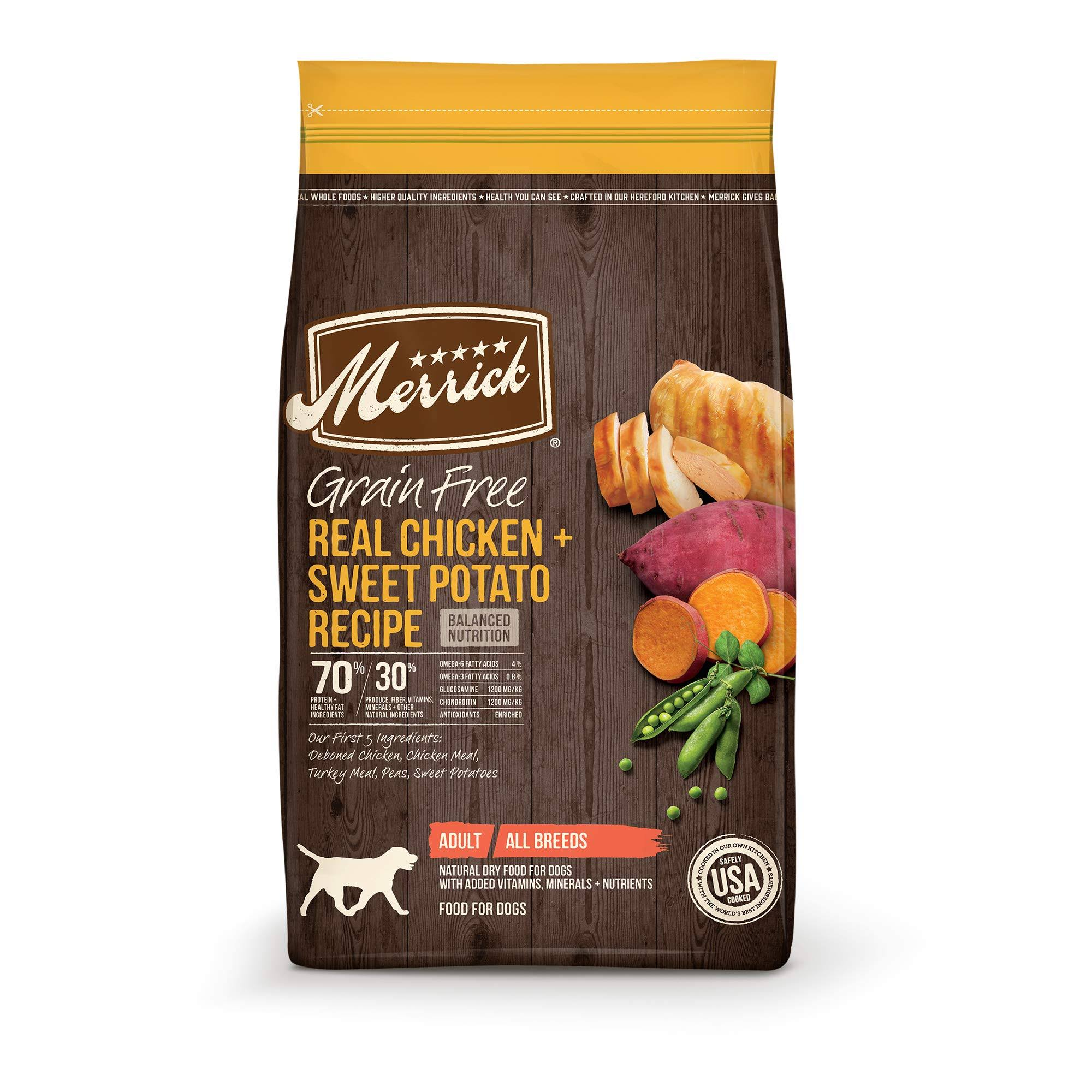 Merrick Grain Free Dry Dog Food - Real Chicken and Sweet Potato, 10lbs