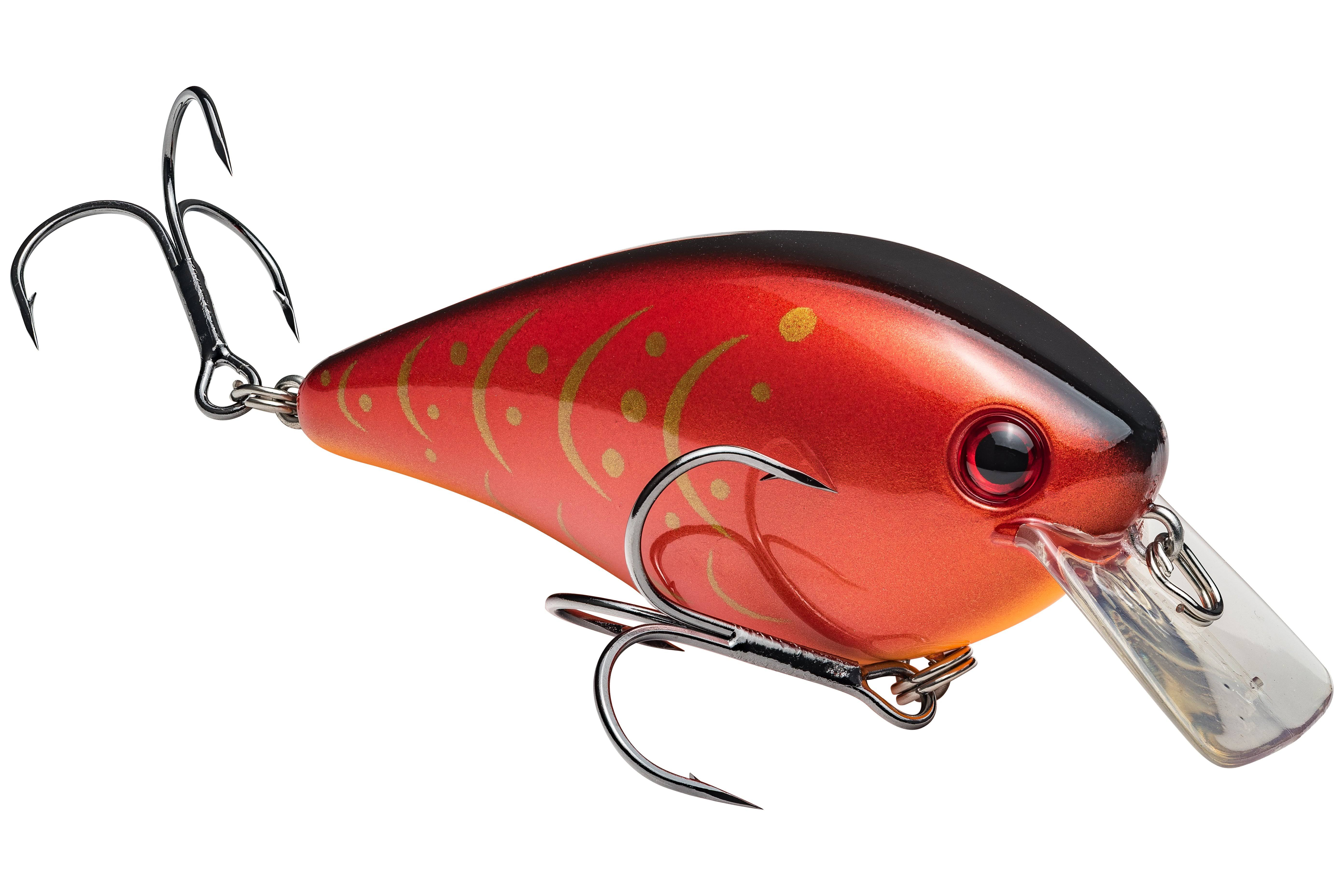Strike King KVD Square Bill Silent Crankbait Lure - Rayburn Red Craw, 2.5oz