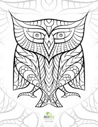 Egyptian Hieroglyph Owl Dicebird Free Adult Printable Coloring Pages Mandalas Doodles