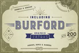 Burford Rustic Font Family Highlights