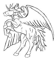 Cute Pegasus Coloring Pages Unicorn With Wings Free Pertaining To Idea