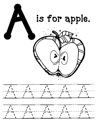 A Is For Apple Coloring Page Apples Edumac Pages Disney