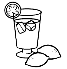 Ice Coffee Coloring Pages