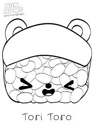 Tori Toro Sushi Num Noms Coloring Sheets