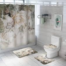 und dusche vorhang boden matte vier stück