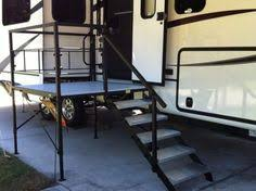 portable rv steps decks and porches for 5th wheels motorhomes