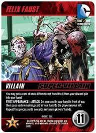 dc comics deck building game felix faust promo board game