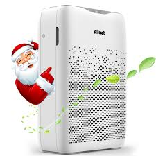 aiibot luftreiniger für wohnung schlafzimmer 55 hepa kombifilter leise schlafmodus 3 windgeschwindigkeit gegen rauch gerüche allergien