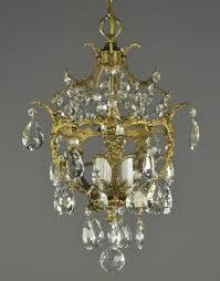 lights spanish brass crystal chandelier vintage antique french