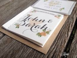 Whimsical Wedding Invitation Booklet