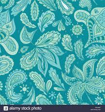 Vintage Pastel Paisley Floral Background For Textile And Wallpaper Design