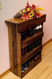 Recycled Pallet Shoe Racks Glorious Ideas