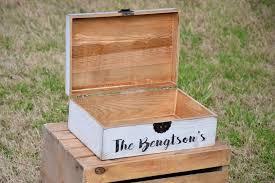 Distressed Flat Top Wedding Card Box