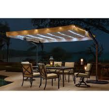 Solar Lighted Rectangular Patio Umbrella by Patio Umbrellas U2013 Clever And Modern