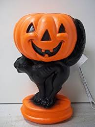 Vintage Halloween Blow Molds Craigslist by Amazon Com Lighted Blow Mold Ghost With Pumpkin 33 Inch