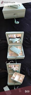 Pottery Barn Mckenna Jewelry Box Nwt | Tiffany Blue, Pottery And Key 25 Cute Travel Jewelry Box Ideas On Pinterest Jewellery Bedroom Amazing Girls White Jewelry Boxes Standing Mirror Pottery Barn Andover Tall Box Ufafokuscom Monique Lhuillier Style Guru Fashion Glitz Pebble Leather With Purple Suede Interior 3820 New Large Dresser Unique Glass Jewellery Nib Josie Mirrored Medium Interior Faedaworkscom