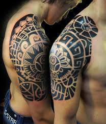 Half Sleeve Tribal Aztec Tattoo Designs 16