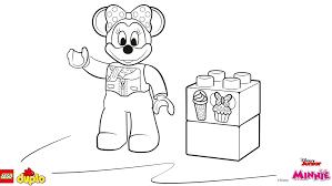LEGOR DUPLOR Minnie Mouse Coloring Page