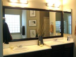 wall mirrors chic white bathroom vanity with large wall mirror