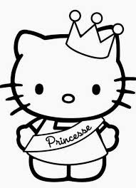 Easy Printable Princess Coloring Pages 20 Free Hello Kitty Fit To Print