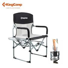 KingCamp Aluminum Folding Director's Chair With Side Table Camping ... Pnic Time Red Alinum Folding Camping Chair At Lowescom Extra Large Directors Tan Best Choice Products Zero Gravity Recliner Lounge W Canopy Shade And Cup Holder Tray Gray Timber Ridge 2pack Slimfold Beach Tuscanypro Hot Rod Editiontall Heavy Duty Director Side Tray29 Seat Height West Elm Metal Butler Stand Polished Nickel Replacement Drink For Chairs By Your Table Sports Hercules Series 1000 Lb Capacity White Resin With Vinyl Padded