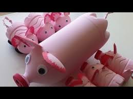 DIY Recycled Art And Crafts Ideas For Kids How To Make Pigs Family From Plastic Bottles