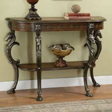 Powell Furniture 416 225 Masterpiece Floral Demilune Console Table