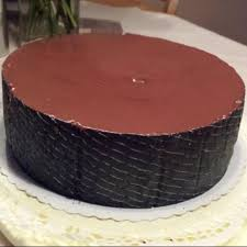 schokoladenpraliné mousse torte mit pfirsich 3 4 5