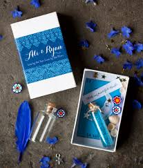 DIY Matchbox Shrine Wedding Favor From My Own Ideas Blog Blue Henna