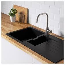hällviken indbygningsvask 1 vask afløbspl sort