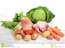 légumes et viande pour le pot au feu image stock image 46973783