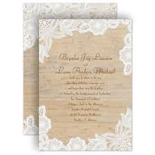 Rustic Wedding Invitations Wood And Lace Invitation
