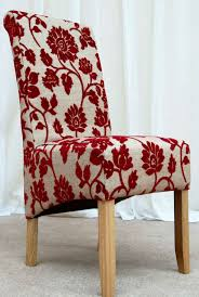 Red Fabric Dining Room Chairs