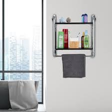 wandregal badezimmer badregal schwarz mit handtuchstange