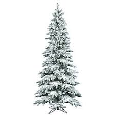 Vickerman 9 Flocked Utica Fir Slim Artificial Christmas Tree Unlit