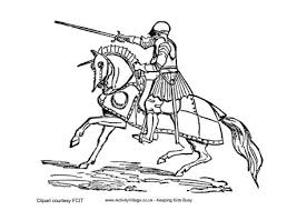 Tudor Knight Colouring Page