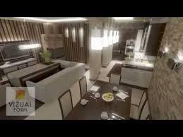 das projekt angeordnet wohnzimmer mit küche wohn und