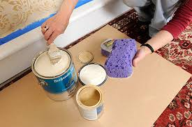 Sponging Stencils Faux Finish