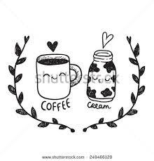 Cute Cartoon Couple Coffee Cream Stock Vector Royalty Free