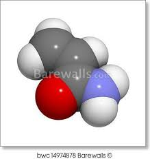 Art Print Of Acrylamide Molecule Polyacrylamide Building Block And Heat Gene