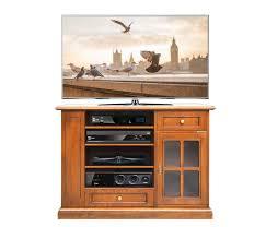 hocher tv schrank aus massivholz in kirschholz patiniert nussbaum patiniert tv möbel im stil für esszimmer wohnzimmer tv anrichte mit rack