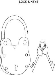 Lock Key Coloring Page