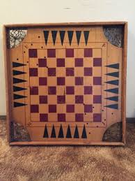 Vintage Antique Archarena Combination Star Wood Game Board Carrom Late 1898 1900