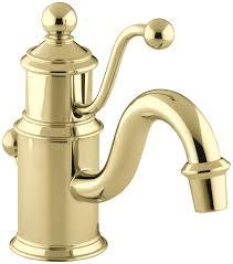 kohler k 139 cp antique single hole lavatory faucet polished