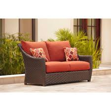 Outdoor Cushions Sunbrella Home Depot by Hampton Bay Bolingbrook Patio Loveseat With Sunbrella Spectrum
