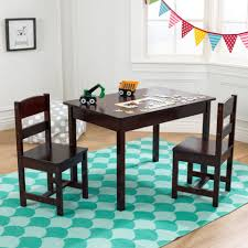 Kidkraft Avalon Desk Assembly by Rectangle Table U0026 2 Chair Set Espresso Kids Table U0026 Chair Sets